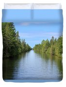 Narrow Cut On The Trent Severn Waterway Duvet Cover
