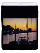 Narrow Sunset Duvet Cover