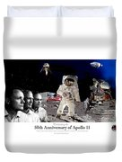 Nasa 50th Anniversary Of The Apollo 11 Lunar Landing By Artist Todd Krasovetz Duvet Cover