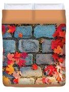 Natural Autumn Leaf Background  Duvet Cover