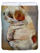 Naughty Puppy Duvet Cover