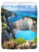 Navagio Bay Duvet Cover