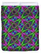 Neon Diamond Pattern Duvet Cover