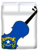 Nevada State Fiddle Duvet Cover