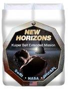 New Horizons Extended Mission Logo Duvet Cover