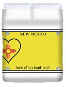 New Mexico State License Plateai Duvet Cover