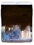 New York Skyline Illustration 1 Duvet Cover