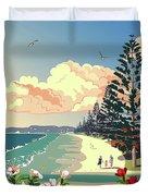 New Zealand Orewa Beach Duvet Cover