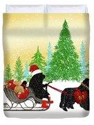 Newfoundland Dog Christmas Duvet Cover