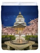Night At The Capitol Duvet Cover
