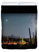Night On Santiam Pass Duvet Cover