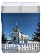 Ninilchik Russian Orthodox Church Duvet Cover