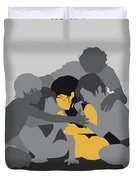 No1035 My Roma Minimal Movie Poster Duvet Cover