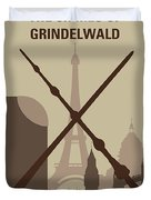 No1042 My The Crimes Of Grindelwald Minimal Movie Poster Duvet Cover