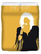 No264 My Bonnie Tyler Minimal Music Poster Duvet Cover