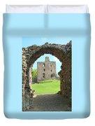 Norham Castle And Entrance Gate Duvet Cover