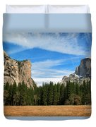 North Dome And Half Dome, Yosemite National Park Duvet Cover