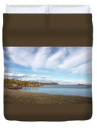 North Shore Black Beach Duvet Cover by Susan Rissi Tregoning