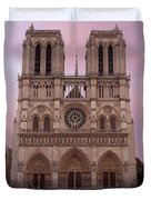 Notre Dame Cathedral Dawn Duvet Cover by Jemmy Archer