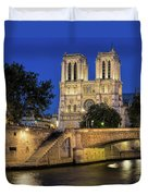 Notre Dame Cathedral Evening Duvet Cover by Jemmy Archer