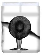 Nude Woman Black Hat Duvet Cover