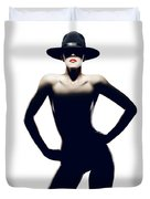 Nude Woman With Hat Duvet Cover
