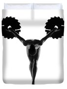 Nude Woman With Saw Blade 5 Duvet Cover
