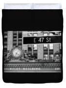 Nyc In Black And White Xii Duvet Cover