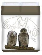 O Is For Owl Duvet Cover