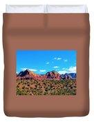 Oak Creek Jack's Canyon Blue Sky Clouds Red Rock 0228 3 Duvet Cover