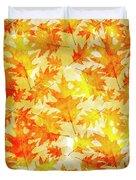 Oak Leaf Pattern Duvet Cover