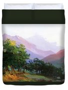 Oaks In The Mountains Of Carrara Duvet Cover