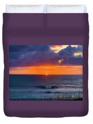 Obx Sunrise On The Last Day Duvet Cover by Lora J Wilson