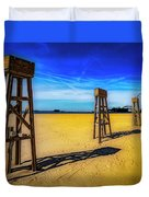 Ocean City Beach Duvet Cover by Paul Wear