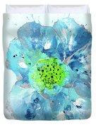 Oceanbreeze Blue-green Windflower Duvet Cover