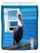 Oceanside Pelican Right  Duvet Cover