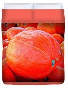 October Pumpkin Duvet Cover