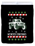 Offroad Monster Truck Christmas Xmas Winter Holidays Duvet Cover
