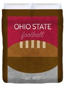 Ohio State Football Minimalist Retro Sports Poster Series 003 Duvet Cover