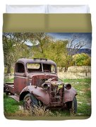 Old Abandoned Chevy Truck Duvet Cover