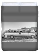 Old Abandoned Vintage Bus Jerome Arizona Duvet Cover