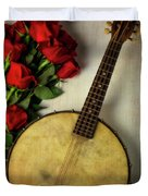 Old Banjo And Roses Duvet Cover