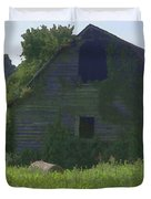 Old Barn And Hay Bales 2 Duvet Cover