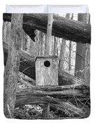 Old Birdhouse Duvet Cover