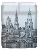 Old City Of Dresden- Dresden Duvet Cover