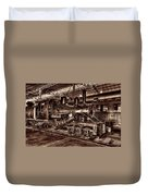 Old Climax Engine No 4 Duvet Cover
