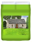 Old Columba's Church Rectory Duvet Cover