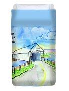 Old Covered Bridge - Avonport N.s. Duvet Cover