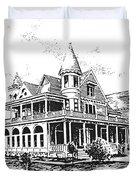 Old Daly Mansion Hamilton Montana Duvet Cover