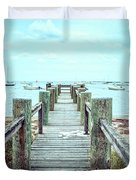Old Dock Hyannis Port Cape Cod Ma Duvet Cover